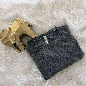 American Apparel Raglan Grey Long Sleeve